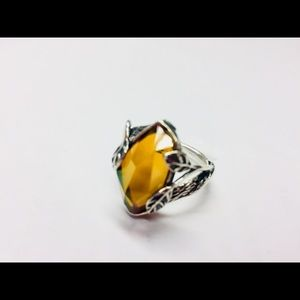 Jewelry - Sterling Silver Vine Ring with Citrine stone